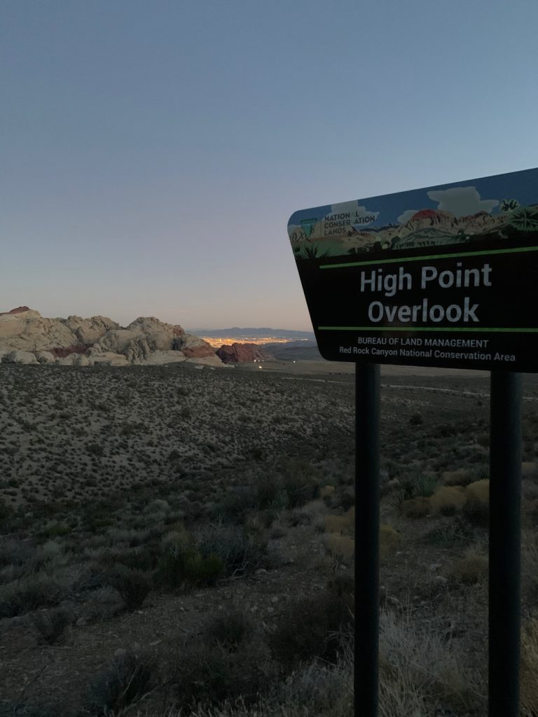 Red Rock Canyon High Point Lookout