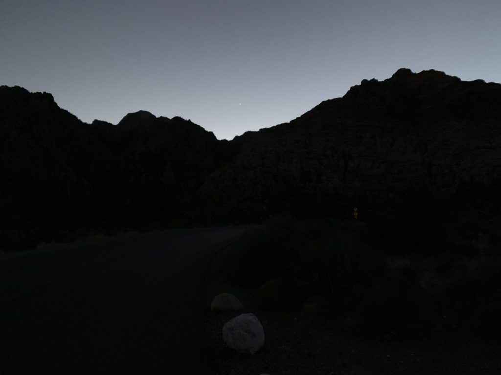 Night Ride through Red Rock Canyon